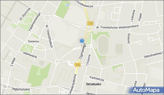 Bydgoszcz, Ogińskiego Michała Kleofasa, mapa Bydgoszczy