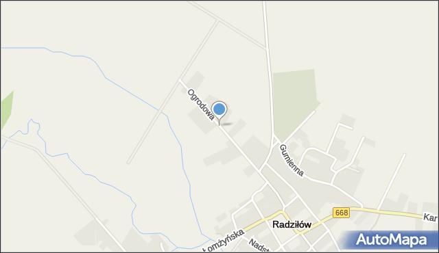 Radziłów, Ogrodowa, mapa Radziłów