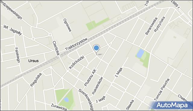 Warszawa, Opieńskiego Henryka, mapa Warszawy