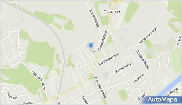 Nysa, Oświęcimska, mapa Nysy