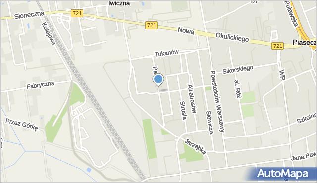 Piaseczno, Pawia, mapa Piaseczno