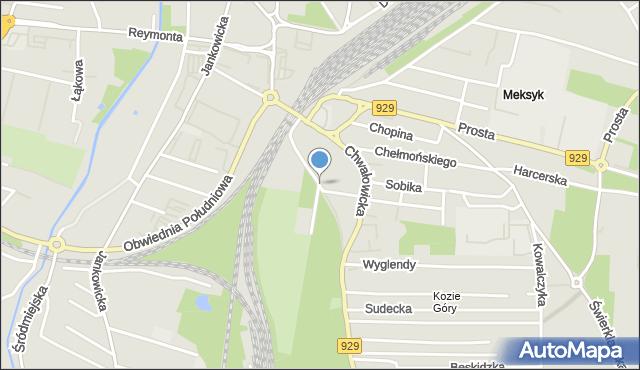 Rybnik, Parkowa, mapa Rybnika