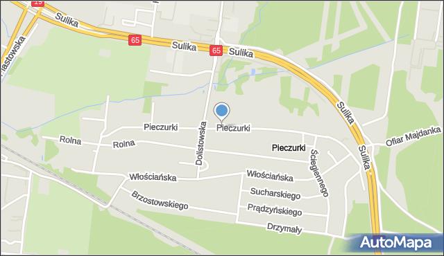 Białystok, Pieczurki, mapa Białegostoku