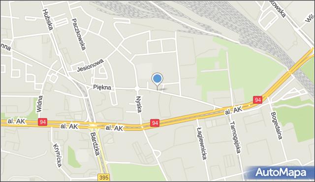 Wrocław, Piękna, mapa Wrocławia