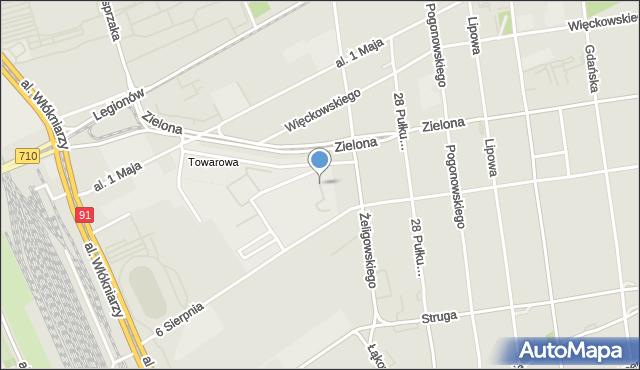 Łódź, Plac Hallera Józefa, gen., mapa Łodzi