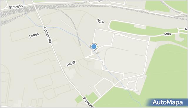 Szczecin, Potok, mapa Szczecina
