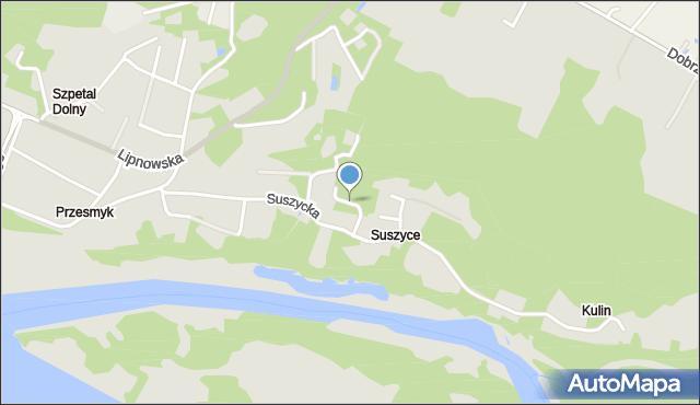 Włocławek, Podmokła, mapa Włocławka