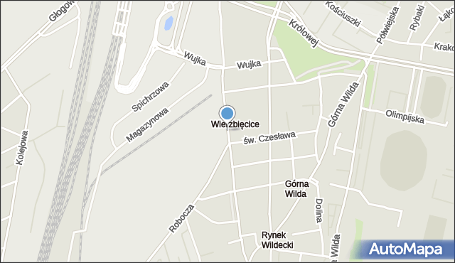 Poznań, Przemysłowa, mapa Poznania