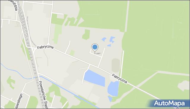 Kalety, Pstrowskiego, mapa Kalety