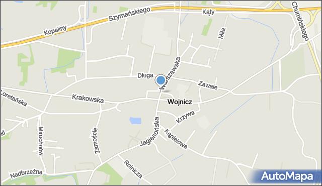 Wojnicz, Rynek, mapa Wojnicz