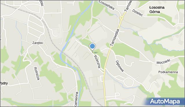 Limanowa, Rzeczna, mapa Limanowa