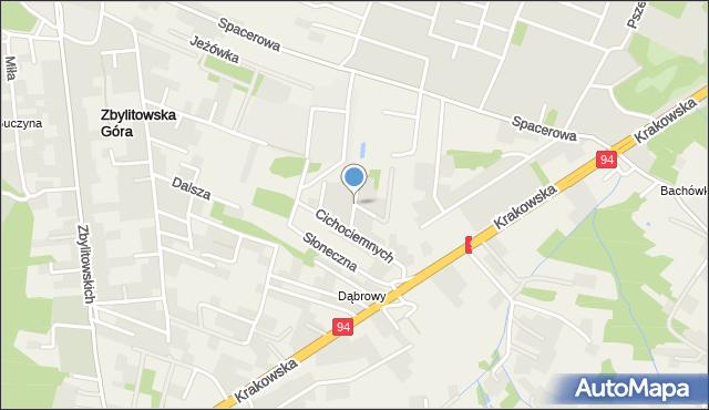 Zbylitowska Góra, Rzemieślników, mapa Zbylitowska Góra
