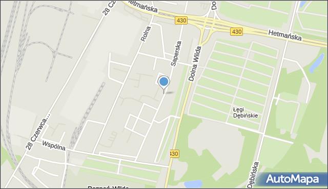 Poznań, Saperska, mapa Poznania