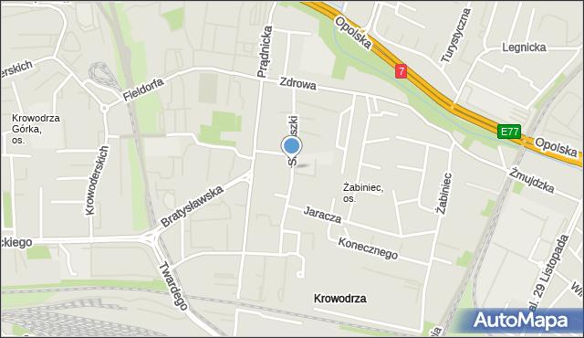 Kraków, Siemaszki Kazimierza, ks., mapa Krakowa