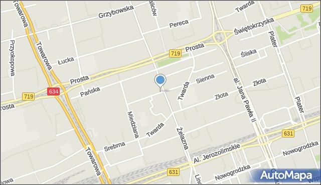 Warszawa, Sienna, mapa Warszawy