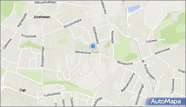 Katowice, Słoneczna, mapa Katowic