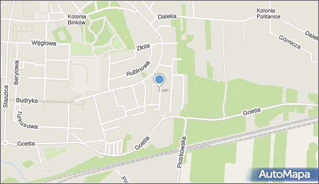 Bełchatów, Srebrna, mapa Bełchatów