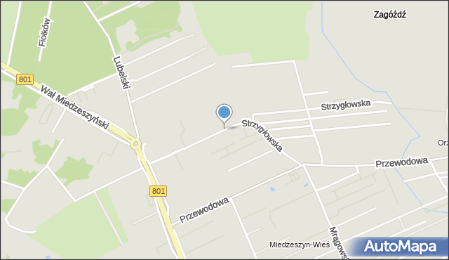 Warszawa, Strzygłowska, mapa Warszawy