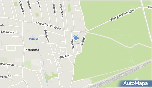 Katowice, Surówki Bolesława, mapa Katowic