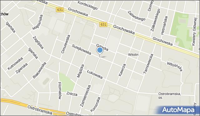 Warszawa, Sulejkowska, mapa Warszawy