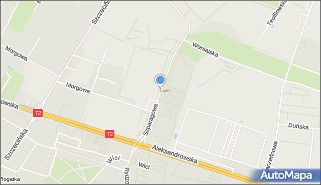 Łódź, Szparagowa, mapa Łodzi