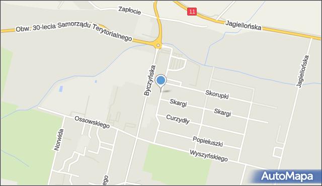 Kluczbork, Tischnera Józefa, ks. prof., mapa Kluczbork