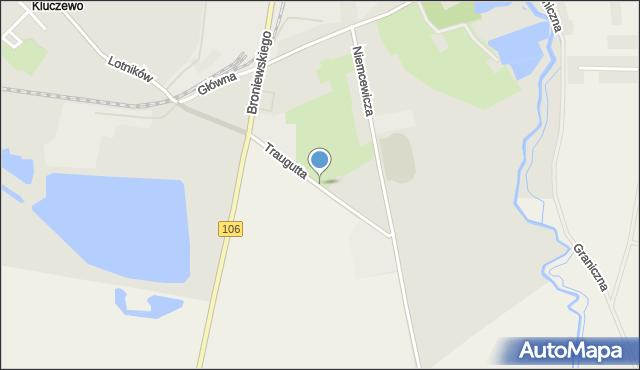 Stargard, Traugutta Romualda, gen., mapa Stargard