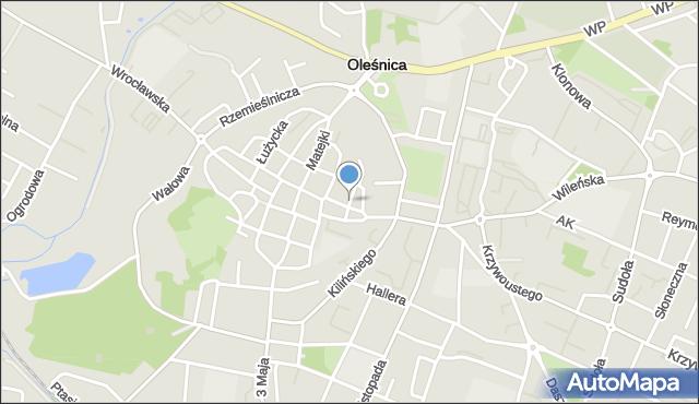 Oleśnica, Wąska, mapa Oleśnica