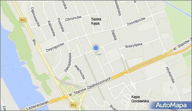 Warszawa, Wandy, mapa Warszawy