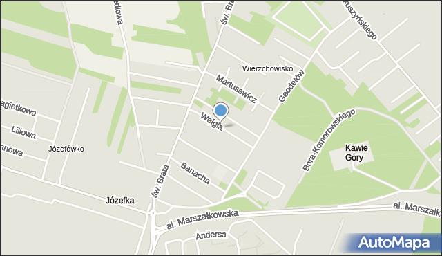 Częstochowa, Weigla, mapa Częstochowy