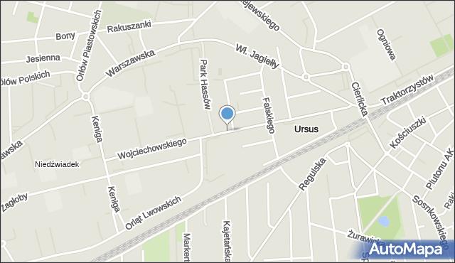 Warszawa, Wojciechowskiego Stanisława, mapa Warszawy