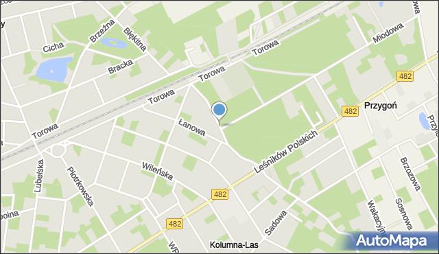 Łask, Zakopiańska, mapa Łask