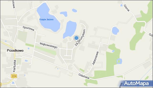Przodkowo, Za Strumykiem, mapa Przodkowo