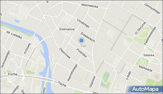 Bydgoszcz, Zduny, mapa Bydgoszczy
