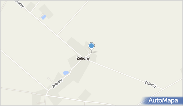 Żelechy gmina Piątnica, Żelechy, mapa Żelechy gmina Piątnica