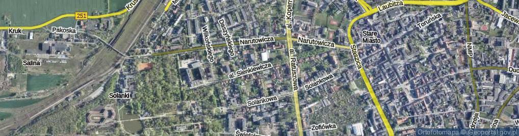 Zdjęcie satelitarne Aleja Sienkiewicza Henryka al.