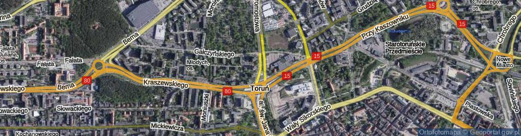 Zdjęcie satelitarne Aleja 700-lecia Torunia al.