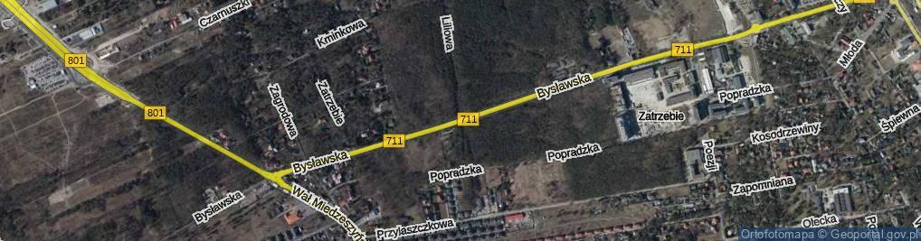 Zdjęcie satelitarne Bysławska ul.