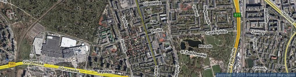 Zdjęcie satelitarne Ciołka Erazma ul.
