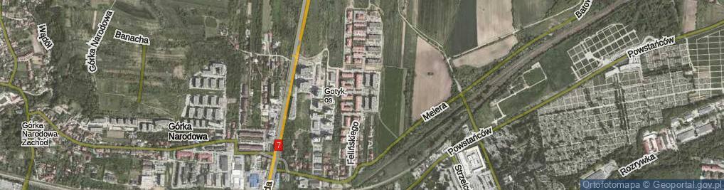 Zdjęcie satelitarne Felińskiego Zygmunta Szczęsnego, abp. ul.