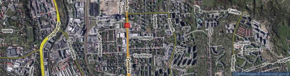 Zdjęcie satelitarne Gorkiego Maksyma ul.
