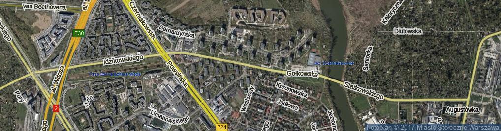 Zdjęcie satelitarne Gołkowska ul.