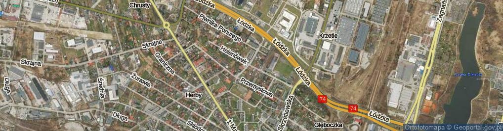 Zdjęcie satelitarne Helenówek ul.