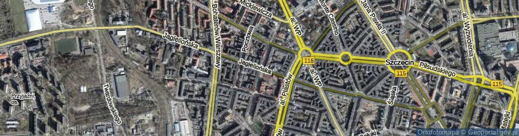 Zdjęcie satelitarne Jagiellońska ul.