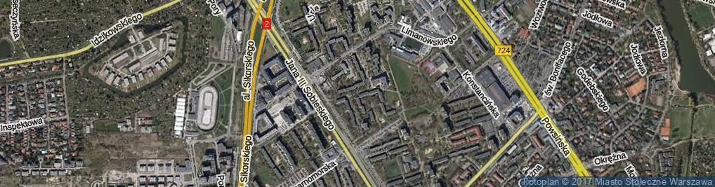 Zdjęcie satelitarne Jaszowiecka ul.