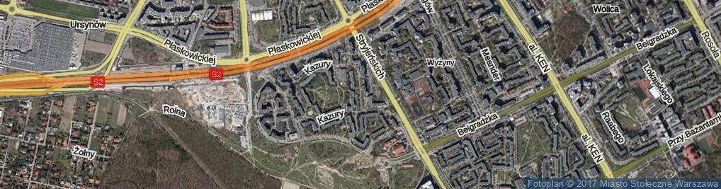 Zdjęcie satelitarne Kazury Stanisława ul.
