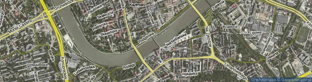 Zdjęcie satelitarne Kładka Ojca Bernatka ul.