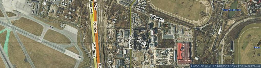 Zdjęcie satelitarne Kłobucka ul.
