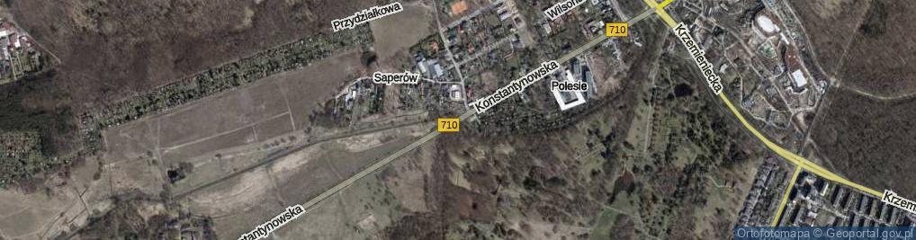 Zdjęcie satelitarne Konstantynowska ul.