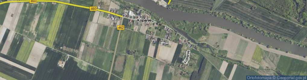 Zdjęcie satelitarne Kopanie ul.